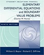 Student Solutions Manual: Elementary Differential Equations & Boundary Value Problems