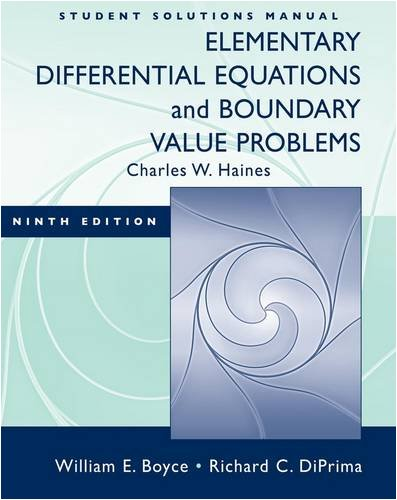 Student Solutions Manual: Elementary Differential...