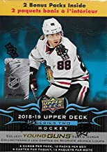 2018 2019 Upper Deck NHL Hockey Series Two Factory Sealed Unopened Blaster Box of 12 Packs Possible Young Guns Rookies and Jerseys