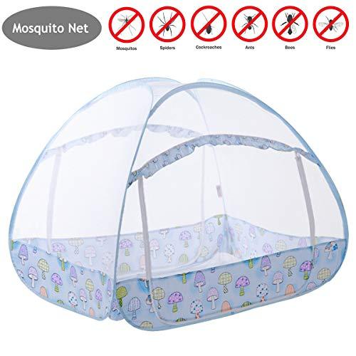 YANGM Verano Cama De Bebé Mosquitera Mosquitera para Bebé para Cama Tienda Mosquitera Plegabl Protección contra Insectos, para Viaje/Hogar/Bebés