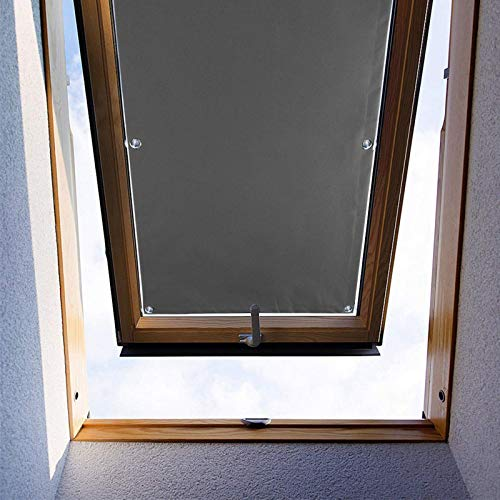 """ZHhan Blackout Roof Skylight Blind Window Curtain for Velux F06 206 Roof Windows with Sucker UV Protection Without Drill and Easy InstallationSucker(Gray,15""""x20""""(37 x 52cm))"""