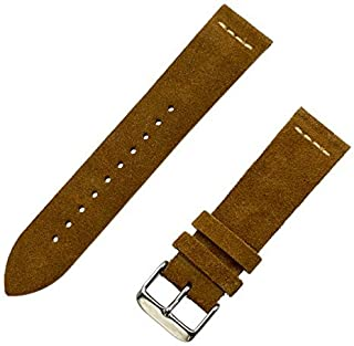 Benchmark Basics 18mm, 20mm & 22mm Suede Watchband (Multiple Colors)