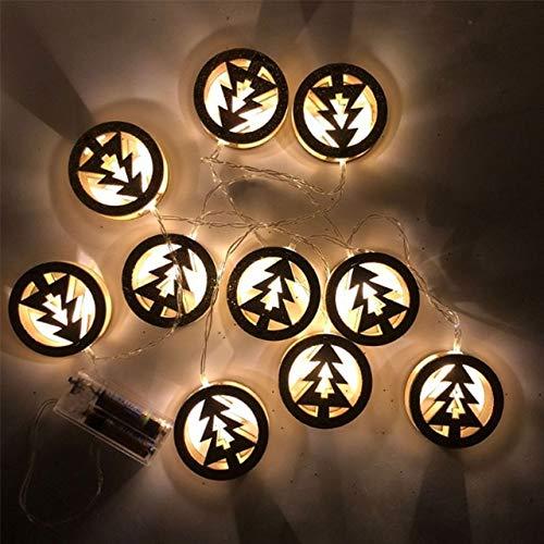 1,5 Mt 10 Leds Holzstern Weihnachtsbaum Led String Licht Weihnachtsdekoration Led Fairy String Licht Lampe Für Home Party Decor 1,5 Mt 10 Leds Weihnachtsbaum