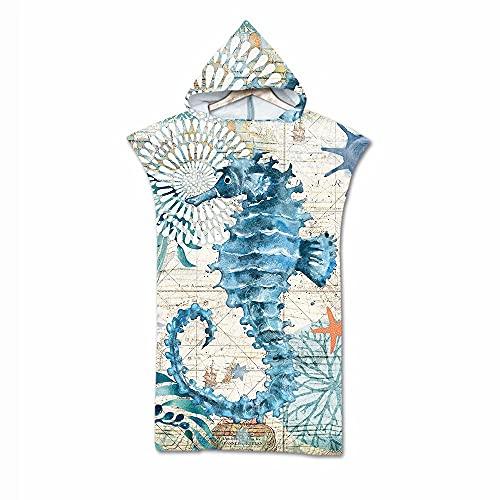 Imprimir niños bebé Toalla de Playa de Microfibra de baño con Capucha Bata con Capucha Poncho para Nadar Playa niños niñas Albornoz Ropa de Playa