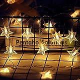 Twinkle Star 40 LED 14 FT Star String Lights...