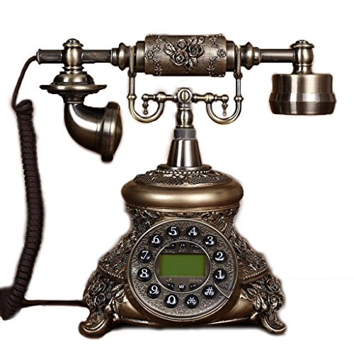 NYDZDM Teléfono Europeo Retro Moda Jardín Creativo Hogar Cable Fijo Teléfono Fijo