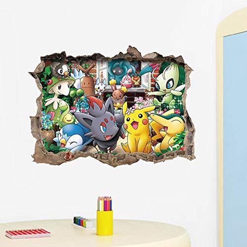 Pokemon Monstre De Poche Aller Drôle Mignon Pikachu Maison Sticker Mural Sticker Jeu De Bande Dessinée Pour Chambre D'Enfants Enfants Cadeau D'Anniversaire Jouet