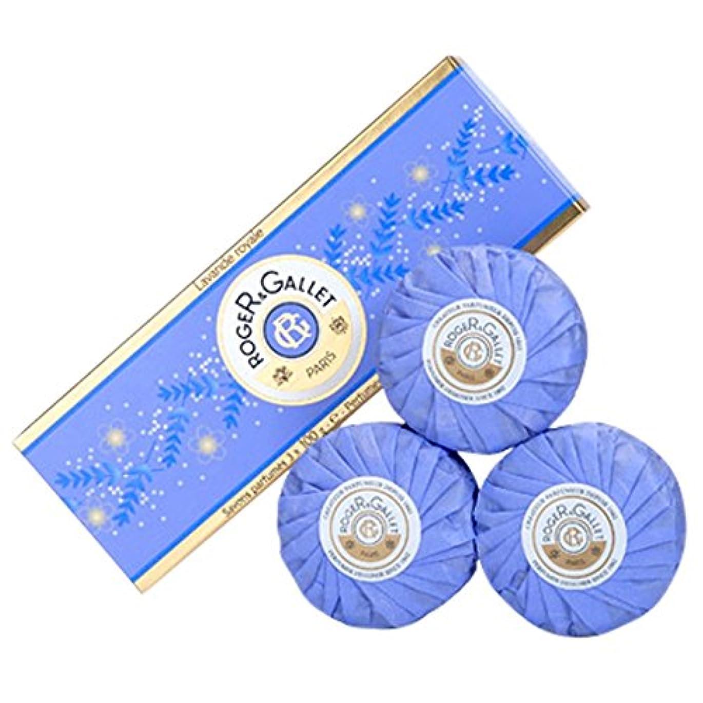 争い待つバイバイロジャー&Galletのラバンデロワイヤルソープコフレ3つのX 100グラム (Roger & Gallet) (x6) - Roger & Gallet Lavande Royale Soap Coffret 3 x 100g (Pack of 6) [並行輸入品]