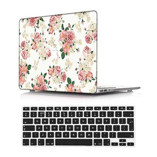 NEWCENT MacBook Pro 13' Funda,Plástico Ultra Delgado Ligero Cáscara Cubierta EU Teclado Cubierta para MacBook Pro 13 Pulgadas con Touch Bar Touch ID 2020 Versión(Modelo:A2289/A2251),Flor 134
