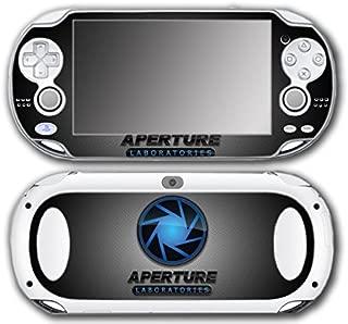 Portal 1 2 Gun Chell Gladdos Wheatley Aperture Laboratories Video Game Vinyl Decal Skin Sticker Cover for Sony Playstation Vita Regular Fat 1000 Series System