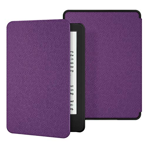 Ayotu Lightweight Case for All-New Kindle 10th Gen 2019 Release - Durable Leather Cover with Auto Wake/Sleep fits Amazon All-New Kindle 2019(will not fit Kindle Paperwhite or Kindle Oasis) Purple