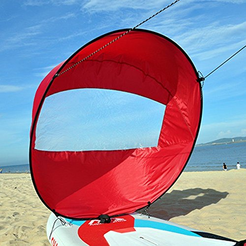 Liruis 42'' Foldable Kayak Downwind Wind Sail Kit Sup Paddle Board Instant Popup...