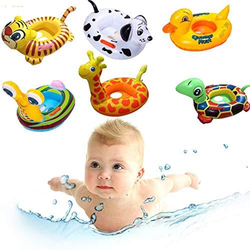 Tomasa- Schwimmring für Kinder Karikatur-Tiermuster-Baby-aufblasbarer Schwimmen-Ring Kinder Aufblasbar Ring Pool Urlaub Sonne Strand Meer Wasser