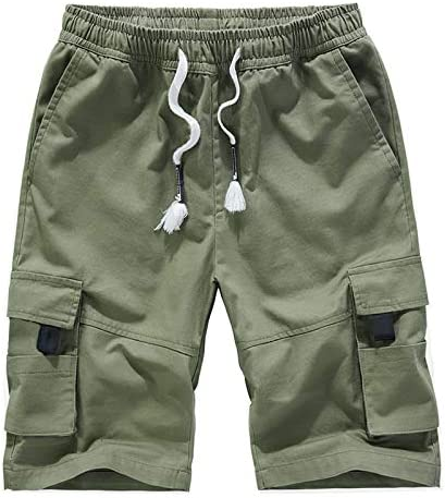 ELETOP Outlet sale feature Mens Kansas City Mall Cargo Shorts Elastic Fit Casual Waist Relaxed