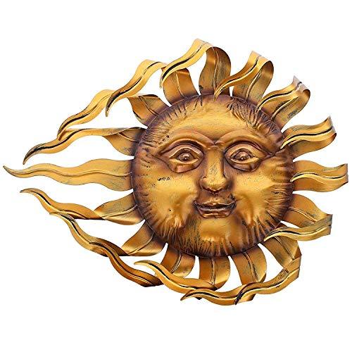SIDCO Sonne Metall Garten Deko Wand Hänger Sonnenstrahlen Wanddeko Wandschmuck Outdoor