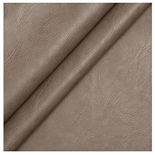 Polipiel for Tapizar Tapicería Material De Artesanía Tela De Grano De Cuero De Imitación Tela De Cuero Sintético PU Tela De Piel Sintética Venta De Polipiel Múltiples colores-Marrón gris 8 # 1.38x5m