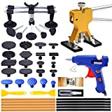 Manelord Auto Body Dent Puller Kit - Car Dent Puller Set with Double Pole Bridge Dent Puller and Golden Dent Puller for Refrigerator Washing Machine Auto Body Repair Dent Removal, Metal Dent Repair