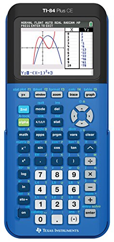 Texas Instruments TI-84 Plus CE Color Graphing Calculator, Bionic Blue