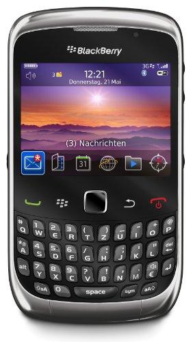 BlackBerry Curve 3G 9300 Smartphone (6,25 cm (2,5 Zoll) Bildschirm, Bluetooth, 2 MP Kamera, QWERTZ-Tastatur) graphite grey