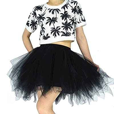 YSJERA Women's Tutu Tulle Mini A-Line Petticoat Prom Party Cosplay Skirt Fun Skirts