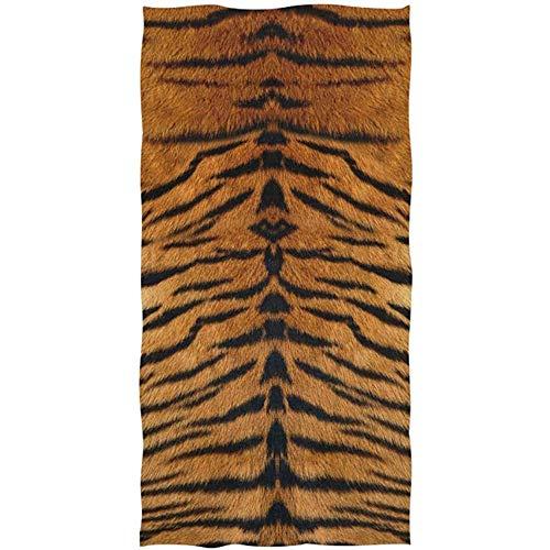 EXking Animal tijgerprint patroon gezichtdoek soft absorberend badkamer strandlaken fitnessstudio yoga sports spa drogen washandjes 130x80 cm