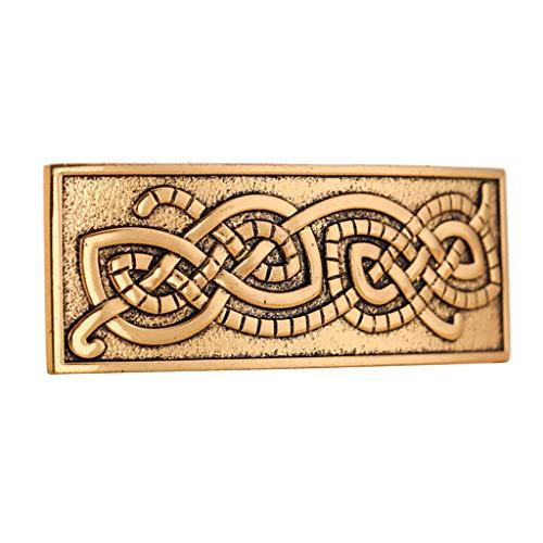 Bonarty Wikinger Haarspange Kopfschmuck Celtic Irish Hair Barrette Für Dickes Haar Zubehör Für Frauen Und Mädchen Gfts - Golden