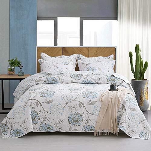 WYHQL Colcha de Flores Blanca/Cubrecama Soft Juego de Colcha (220 cm x 240 cm, Cama Doble, para el Dormitorio), Colchas Acolchadas 100% algodón (Size : 230x250cm)