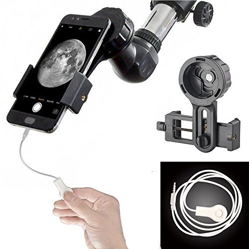 Gosky Telescope Phone Holder - Universal Quick Aligned Cell Phone Digiscoping Mount - Compatible with Binocular Monocular Spotting Scope and Compatible with Phone Sony Samsung Etc