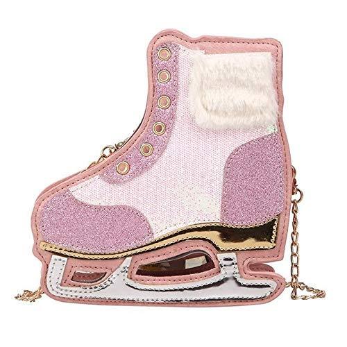 GFF Persönlichkeit Design Frauen Tasche Rollschuhe Form Umhängetasche Für Frauen Lustige Schuhe Form Kette Tasche Für Mädchen Weiblich