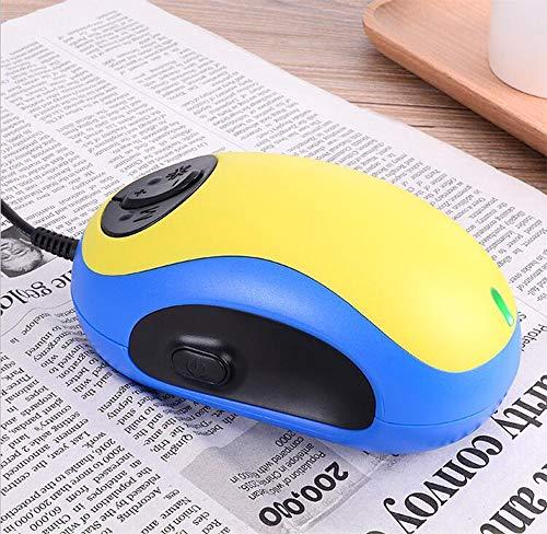 Elektronische Lesehilfe Maus Magnifiers, Hilfe Wired Stimme Maus, 20x Zoom USB Lupe mit Wired-Stimme für Lese PC-Bildschirm, Amblyopie Sehhilfen Lesehilfe,Yellowvoice
