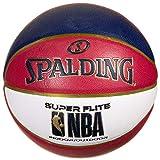Spalding NBA Super Flite - Balón de baloncesto, color rojo y blanco