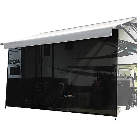 Tentproinc RV Awning Sun Shade Screen 7 X 163 Beige Mesh Sunshade UV Blocker Complete Kits Motorhome Camping Trailer Canopy Shelter 3 Years Lasting