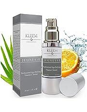 Kleem Organics vitamin C -serum för ansikte och Nacke med hyaluronsyra och vitamin E | Naturligt anti -åldrande ansiktsserum | Bästa ansiktsserum mot rynkor | Acne Spot Treatment och Dark Spot Corrector för ansikte [30 ml]. Plågeri-fri
