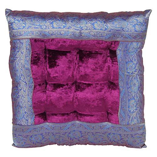 Casa Moro Orientalisches Sitzkissen Kissen Mar43 Lila 36x36 cm inklusive Füllung | Indian Style Couch-Kissen Yogakissen indisch Sofakissen Bodenkissen Deko-Kissen Zierkissen für Couch Sofa Lounge