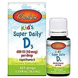 Carlson Super Daily D3 400 IU for Kids 0.36 fl.oz (10.6ml) by Carlson Laboratories