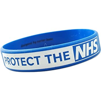 sillicone wristband in support for the NHS