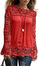 Amazon.es: Blusas Encaje - Rojo