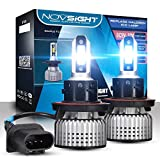 H13 9008 Dual High Low Beam LED Headlight Bulbs Conversion Kit With Bridgelux-COB LED Chips, Up to 10000 Lumens, 6500k Cool White for Low Beam/High Beam/Fog Lights Headlight Bulb Replacement