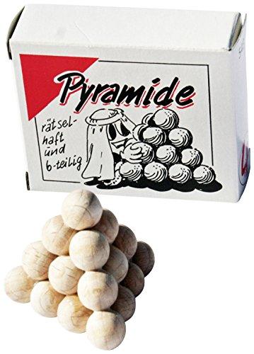 GICO Piramide sferiche da 6 pezzi, mini puzzle in legno, gioco di pazienza
