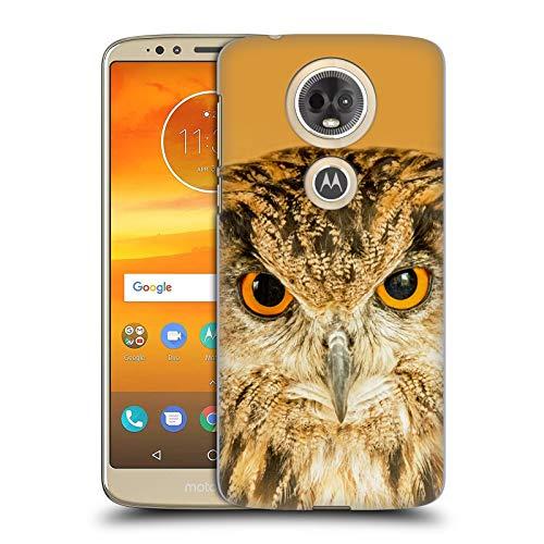 Head Hülle Designs Offizielle Catspaws Eule richtig auf der Nacht Tiere 2 Harte Rueckseiten Huelle kompatibel mit Motorola Moto E5 Plus