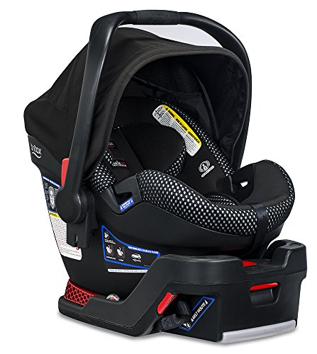 Britax B-Safe Ultra Infant Car Seat - 4 to 35 Pounds - Rear Facing - 2 Layer Impact Protection, Cool Flow Ventilated Fabric, Grey