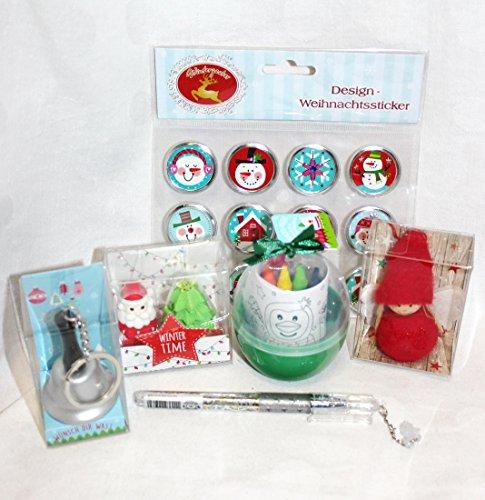 Unbekannt 110691 Weihnachts Give A Way Mitgebsel 6er Füllung Adventskalender Nikolaus Stiefel Wehnachten