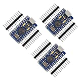 ZHITING 3PCS Pro Micro, para ATmega32U4 5V 16MHz Micro USB Módulo de Placa de Desarrollo Microcontrolador para Arduino IDE Placa de Desarrollo Microcontrolador