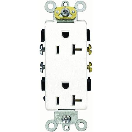 Amazon Com Leviton R42 16352 W Decora Plus Toma De Tierra Dúplex Color Blanco Home Improvement