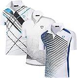 jeansian Ninos 3Pack Secado Rapido Deporte Activo Manga Corta Transpirable Polo T-Shirt Camiseta Top LBS710 MixPackB M