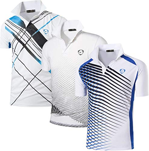 jeansian Jungen Active Sportswear 3 MixPacks Quick Dry Short Sleeve Breathable T-Shirt Tee Tops LBS710 MixPackB L