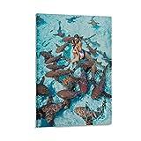 Poster mit Haien in Bahamas, Tourismus, Naturinteresse,