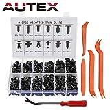 Autex 240 PCS Rivet Clips Plastique, Rivets Plastiques Fixation de Protection Universel pour Auto Voitures Panneaux de Portes avec...