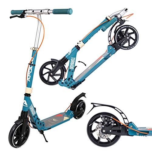 Apollo High End Scooter - Tornado City Scooter con Freno y suspensión, City Roller Plegable Ajustable en Altura, Kick Scooter para Adultos y niños