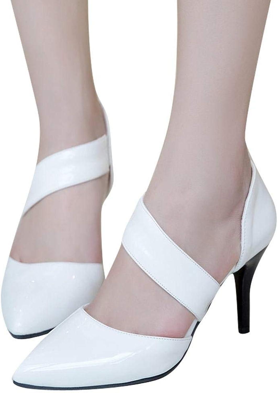 Ghapwe Women's Fashion Pointed Toe High Heel Dress shoes Black 8 M US